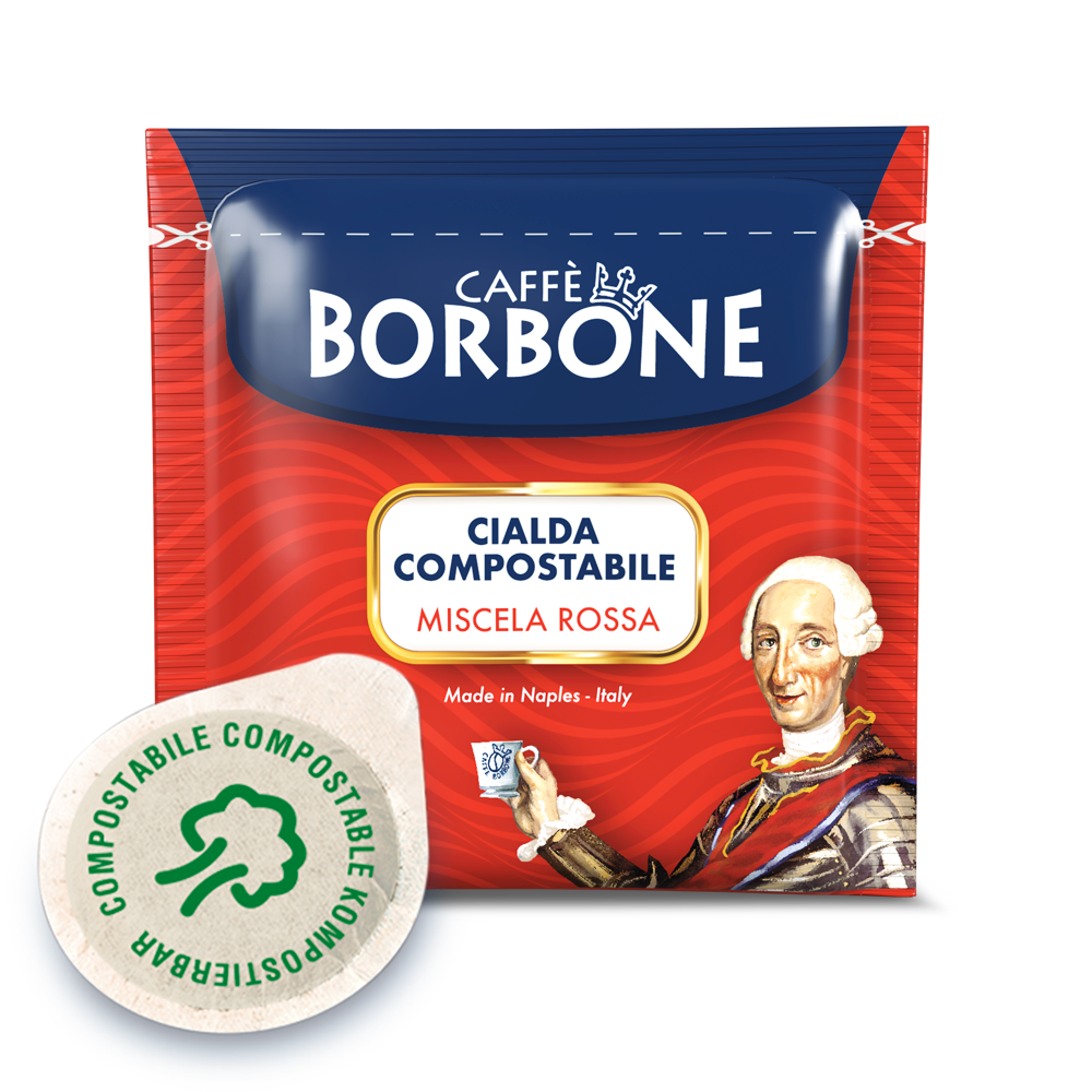 Cialde compostabili ESE 44mm Caffè Borbone Miscela Rossa