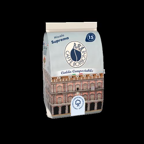 Cialde compostabili ESE 44mm Caffè Borbone Miscela Suprema 15 caffè