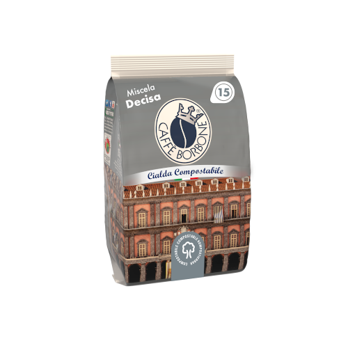 Cialde compostabili ESE 44mm Caffè Borbone Miscela Decisa 15 caffè