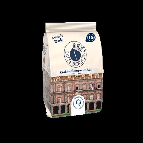 Cialde compostabili ESE 44mm Caffè Borbone Miscela Dek 15 caffè