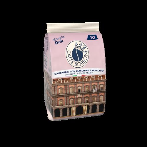 Capsule compatibili con macchine a marchio Lavazza A Modo Mio Miscela Dek 10 caffè