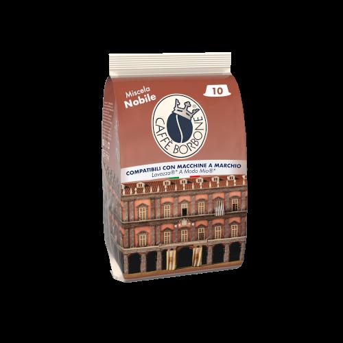 Capsule compatibili con macchine a marchio Lavazza A Modo Mio Miscela Nobile 10 caffè