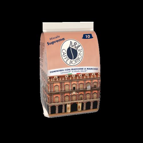 Capsule compatibili con macchine a marchio Lavazza A Modo Mio Miscela Suprema 10 caffè