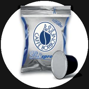 Capsule compatibili con macchine a marchio Nespresso ad uso domestico Miscela Blu