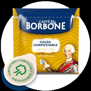 Cialde compostabili ESE 44mm Caffè Borbone Miscela Oro