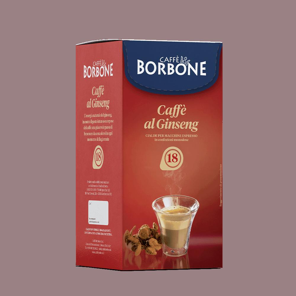 Cialde compostabili ESE 44mm Caffè Borbone Caffè al Ginseng