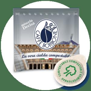 Cialde compostabili ESE 44mm Caffè Borbone Miscela Decisa