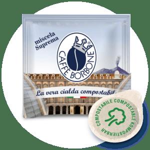Cialde compostabili ESE 44mm Caffè Borbone Miscela Suprema