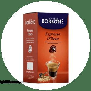 Cialde compostabili ESE 44mm Caffè Borbone Espresso d'Orzo