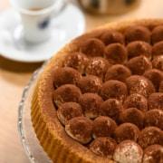 crostata al Tiramisù realizzata con Caffè Borbone