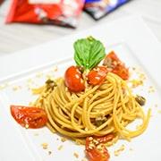 spaghetti caffè capperi e pomodorini – caffe borbone – napoli- 3